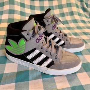 Adidas Trefoil High Top Sneakers Shoes Men5.5 W7.5